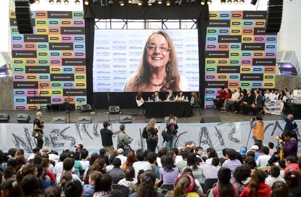 Imagen Alicia Kirchner en videoconferencia