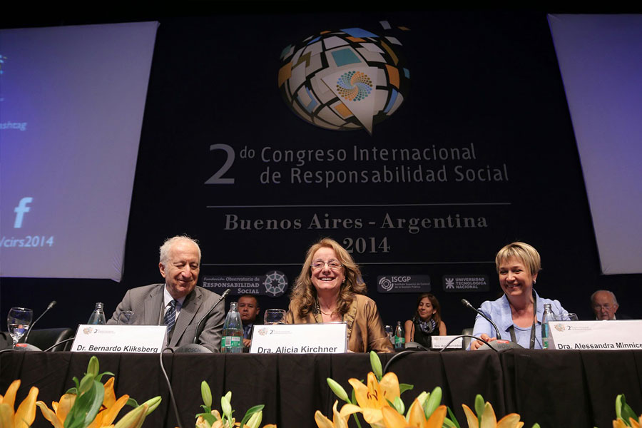 Alicia Kirchner en el Segundo Congreso Internacional de Responsabilidad Social