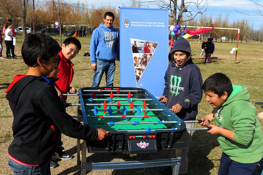 Los torneos de metegol fueron apasionantes en la localidad de Neuquén.
