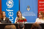 Fotografía del Yael Bendel, La secretaria nacional de Niñez, Adolescencia y Familia, en el encuentro del viernes pasado.