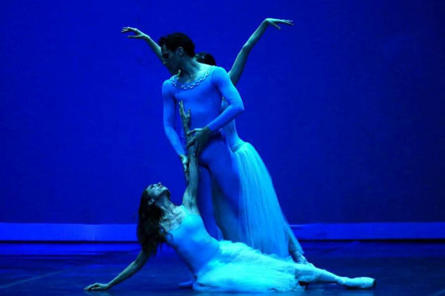 Fotografía ilustrativa de Iñaki Urlezaga y una bailarina